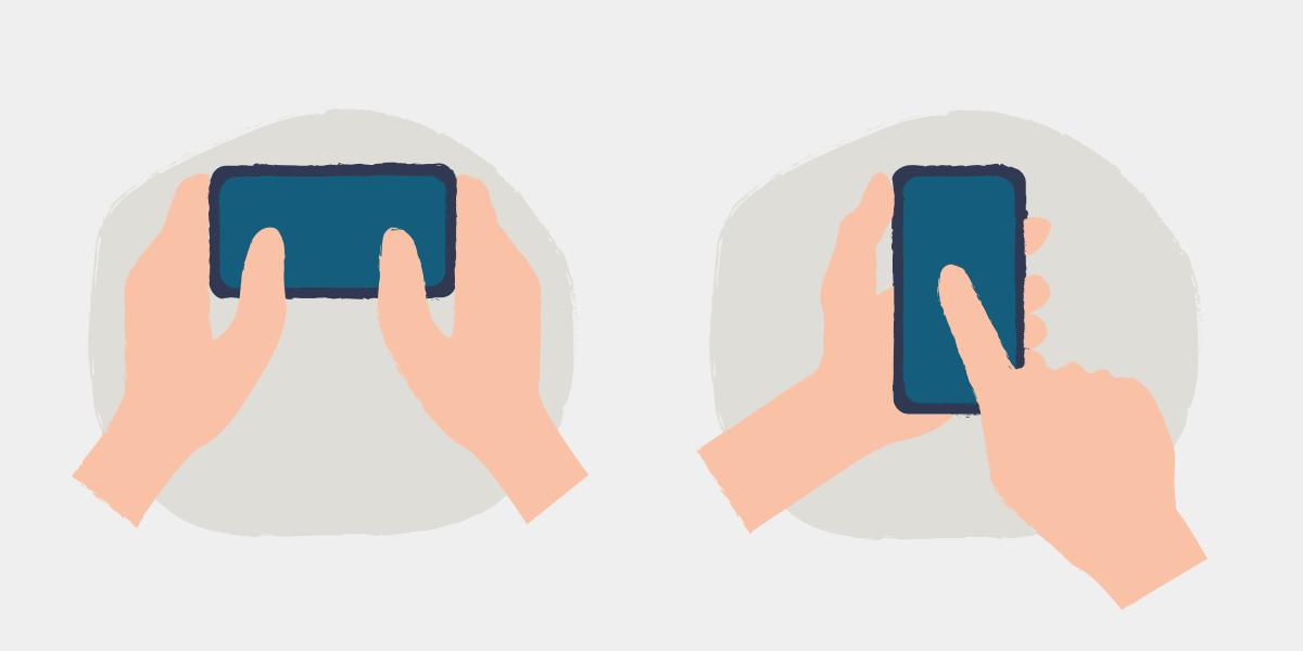 como segurar o celular corretamente?
