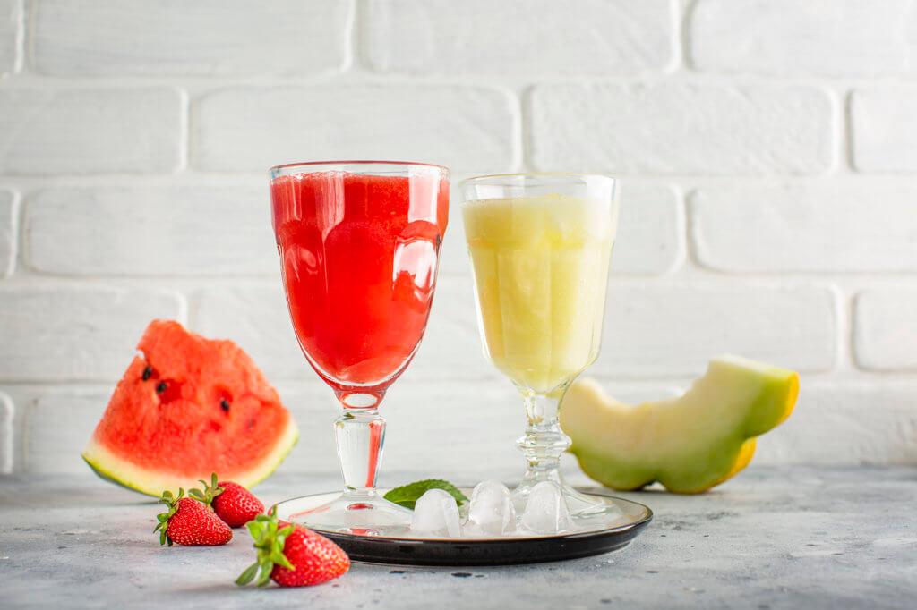 Água em frutas